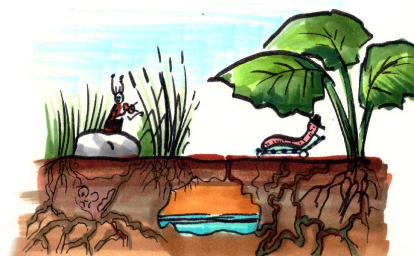 O půdě, o vodě, o blátě… a o žížalách, co vrtají chodbičky v téhle planetě.